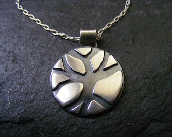 Silver Tree Pendant Silver Branch Necklace