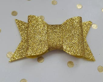 Small Gold Glitter Bow Planner Charm