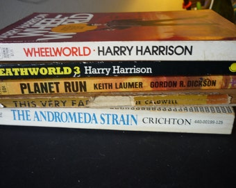 Retro Sci Fi Bundle - Science Fiction - Three Hand Picked best of the genre - gift for readers - star trek star wars twilight zone