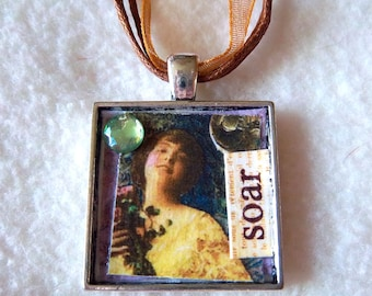 Soar Collage Pendant Necklace No.21