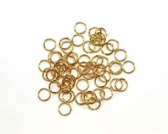 5 grams x 6mm Tarnish Resistant Gold Plated Jump Rings