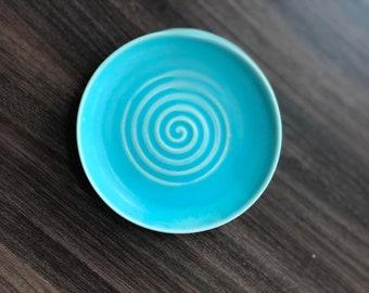 Handmade Ceramic - Smooth Turquoise plate