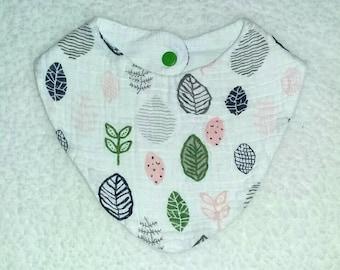 Bib/bandana in 100% cotton muslin sheet