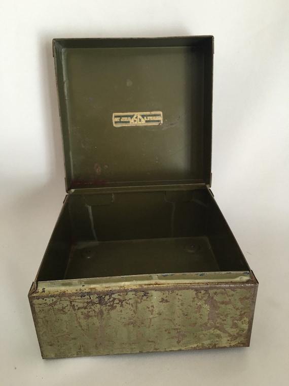 Vintage Industrial Workshop Metal Tool Box, ASCO, Art Steel Company, Metal  Storage Box From Vintagerocksautism On Etsy Studio