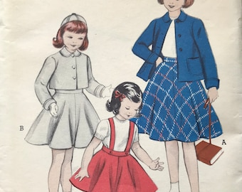 Butterick 6235 1950s Vintage Sewing Pattern Size 10 Chest 28