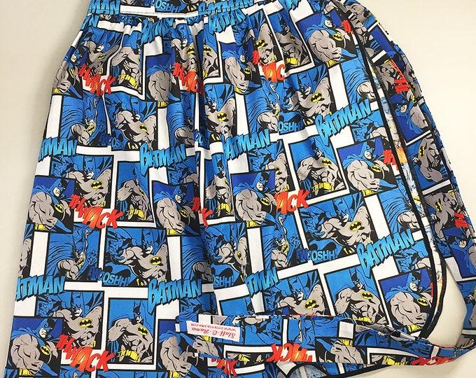 Half Apron - Vintage Pin Up Skirt Style - Batman