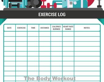workout log printable