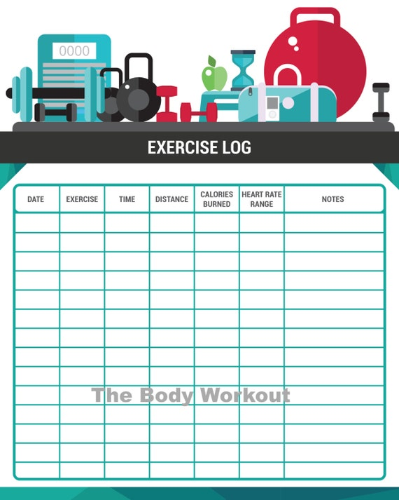 exercise log printable