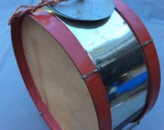 Bass Drum and Cymbals Vintage 60s Toy