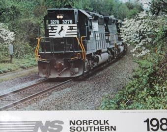 Norfolk Southern Railroad Wall Calendar - 1985