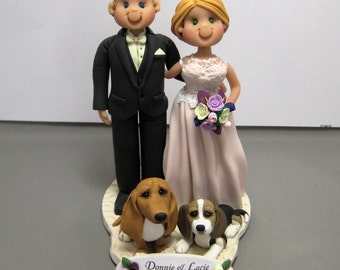 DEPOSIT for Custom made Polymer Clay Wedding Cake Topper