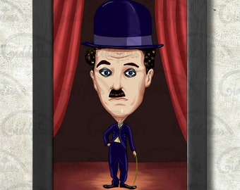 Charlie Chaplin print + 3 for 2 offer! size A3+  33 x 48 cm;  13 x 19 in