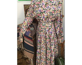 Vintage BALDANZA 80s 2 pc button-up top and pleated skirt set