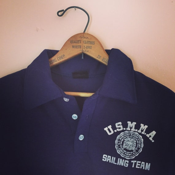 Vintage U.S. Merchant Marine Academy Sailing Team Polo ohYUZgG2sd