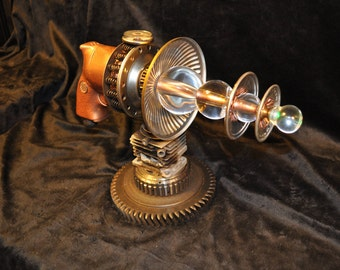 "Ray Gun "" ASTRONOMICAL OBLITERATOR RAYGUN "" Table Top Steampunk Sci-fi Victorian Industrial"