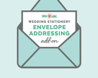 custom envelope addressing, wedding invitation add-on