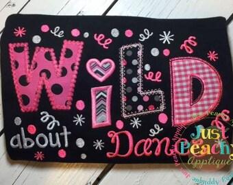 Wild About Dance Machine Embroidery Applique Design