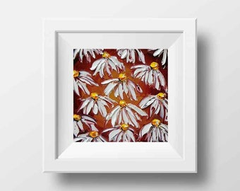 Floral Print, Flower Print, Daisy Print, Floral Art, Daisies, Wildflowers, Abstract Artwork, Floral Decor, Flower Decor, Daisy Art,Daisy