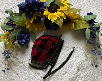 Buffalo check bonnet-velvet inside