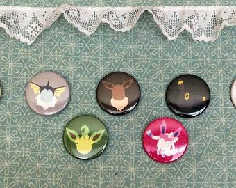 Minimalist Eeveelution Pinback Buttons