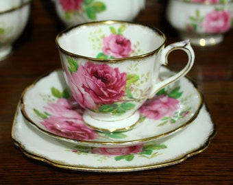 "Royal Albert ""American Beauty"" Tea Trio"