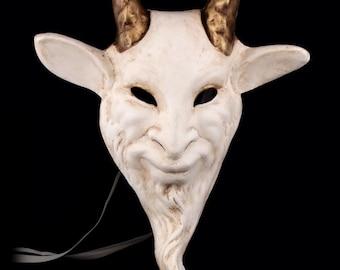 Venetian Mask | White Capricornus