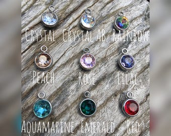 Add On Birthstone Charm | Personalized Birthstone Charm | Birthstone to Add to Key Chain | Birthstone to Add to Necklace