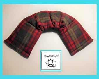 Heat Pad Microwavable, Flax Seed Heat Pad, Back Cramps Heat Pad, Neck Wrap Heat Pad, Relaxation Gifts, Pick Plaid Flannel, Sunny Heat Packs