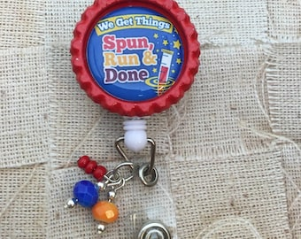 Laboratory Spun Run and Done retractable badge reel lab week gift lab tech