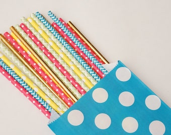 Gender Reveal Party Straws, Baby Shower Decor, Pool Party Decorations,  Birthday Party Decorations, 25 Straw Piece Mix