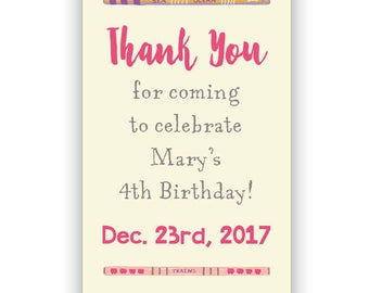 Little Library Birthday Bookmarks