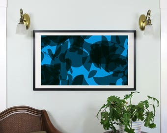 "Abstract Composition: Aspen_06_01b - Contemporary Art - Abstract Design - 46"" x 26"" and 19"" x 13"" - Limited Edition Print"