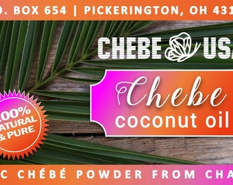 Chébé Coconut oil - Chebe Powder  infused into Coconut Oil and Essential Oils