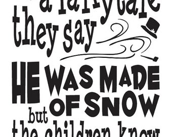 "Primitive Christmas/Holiday STENCIL**Frosty the Snowman**12""x24"" for Painting Signs, Airbrush, Crafts, Wall Art"
