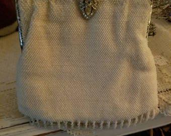 Vintage purse, coin purse, vintage bag, beaded bag.