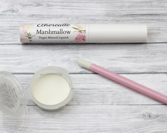 "Vegan White Lipstick - ""Marshmallow"" all natural mineral makeup"