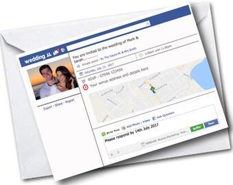 Pack of 20 Facebook/social media style invitations