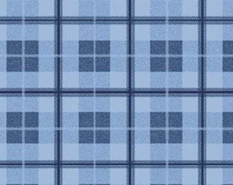 One Yard Saranac Lake - Crawford Notch Plaid in Blue - Cotton Quilt Fabric - Benartex Fabrics (W1607)