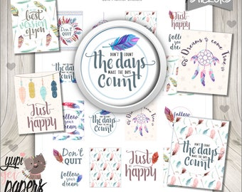 50%OFF - Quote Stickers, Planner Stickers, Printable Planner Stickers, Life Stickers, Motivational Quotes, Planner Accesories, Life Quotes