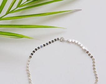 Sterling Silver Dotted Choker