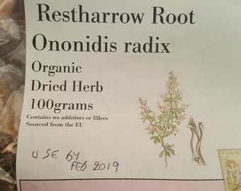 Dried organic Restharrow root