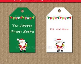 Printable santa gift tags customized with name from santa tags santa gift tags from santa stickers printable santa labels solutioingenieria Choice Image