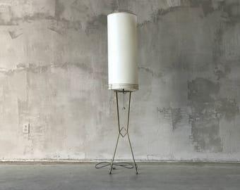 Working brass floor lamp