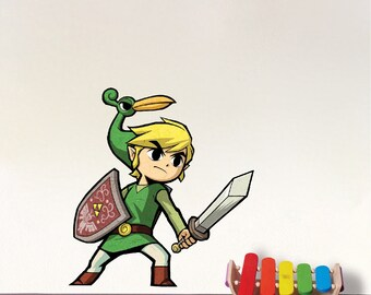 Zelda Wall Decal Zelda Sword Video Games Wallpaper Sticker Zelda Stained Glass Shield Sword Windmaker Bedroom Decals Zelda Wall Sticker e13  sc 1 st  Etsy & All 5 Zelda Stained Glass Wall Decal Sticker Video Games