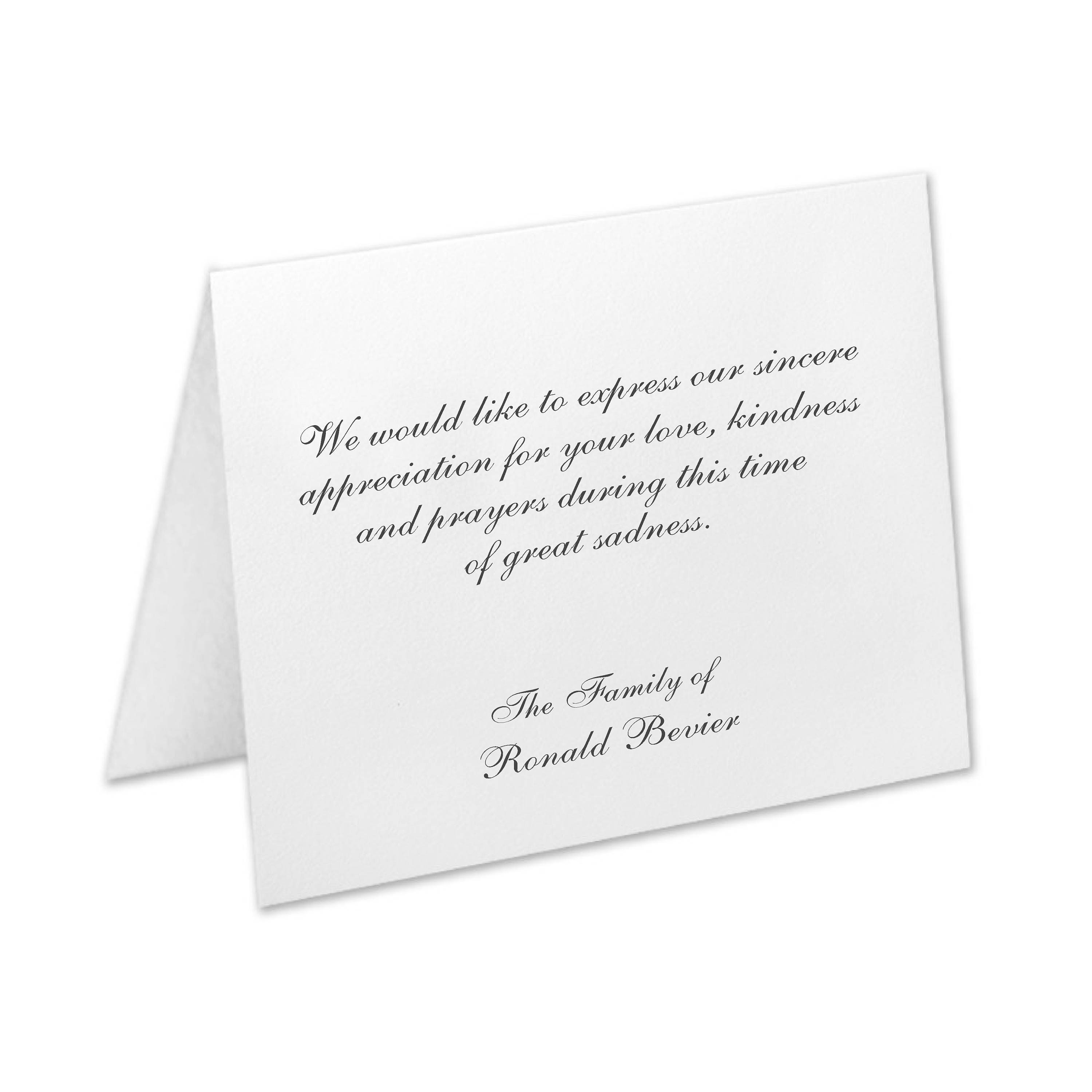 sympathy acknowledgement cards funeral thank you cards