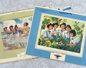 1940s Dionne Quints Calendars - Sioux Store Cafe, Winger MN