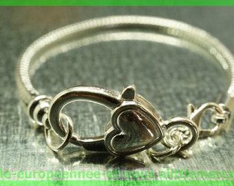 N12 18 cm charms silver plated European Bead Bracelet