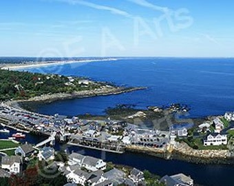 Perkins Cove Ogunquit Maine Panoramic Maine Art Print US MADE    Maine Photographer