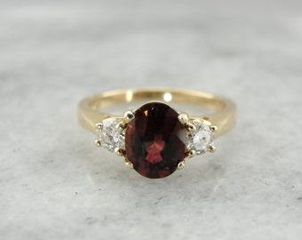 Three Stone Pink Rubellite Tourmaline and Diamond Anniversary Ring 486814-P