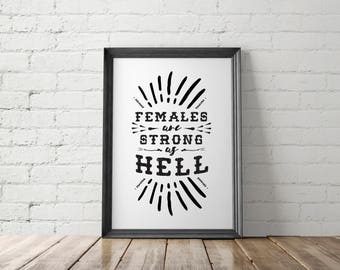 Feminist Printable, Resist Poster, The Resistance Wall Art, Political Print, Protest Poster, Females Are Strong Poster, Feminist Poster